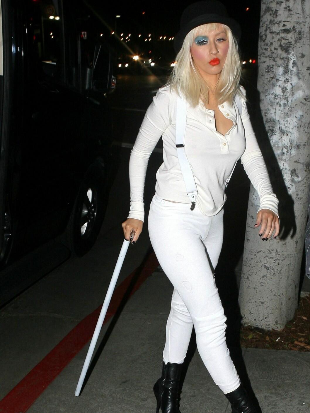 Utkledt til sin egen bursdag i 2008. Har Lady Gaga latt seg inspirere her? Foto: All Over Press