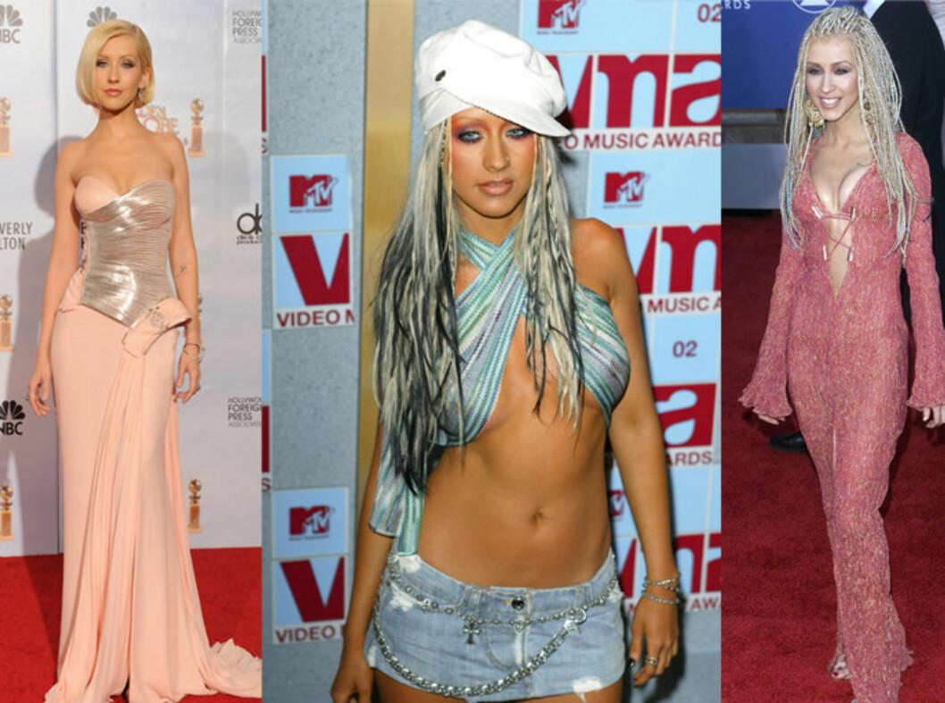 LITT AV NOEN KREASJONER: Det er ikke bare mange av 2000-tallets største ballader vi kan gi Christina Aguilera æren for. Hun har også begått noen av tiårets aller mest hysteriske antrekk.