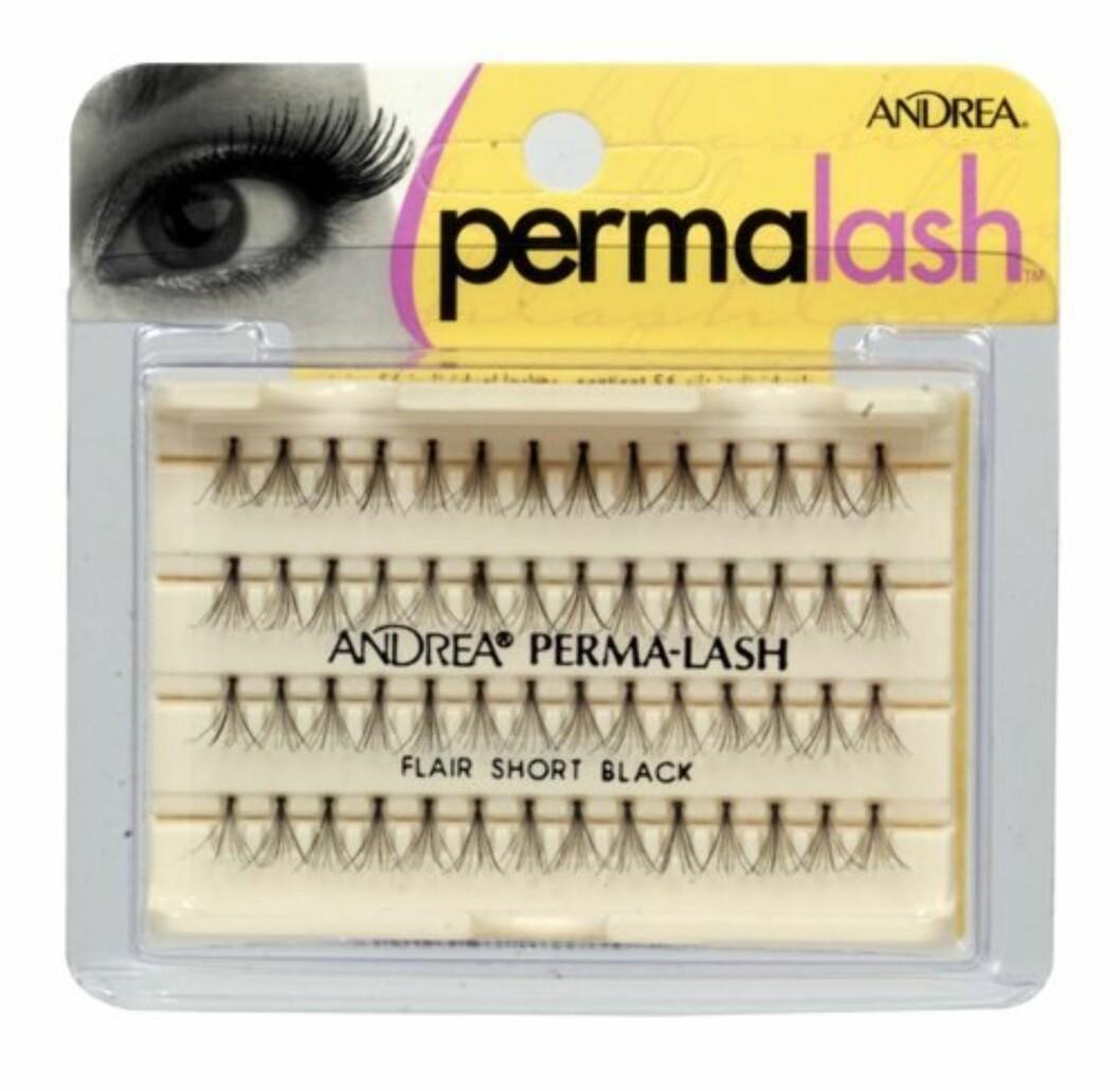 "Andrea Mod Permalash Naturals er individuelle øyenvipper som er laget for en enklere påføring. De skal være vannfaste, ""knot-free"" og meget lette. Hver pakke inneholder 56 individuelle små, korte vipper (kr 80 Andrea/Makeupmekka.no)."