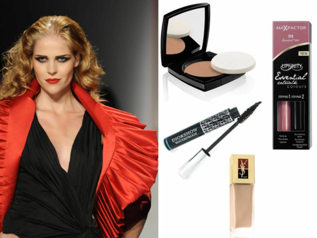 HOLDBART: Her er våre tips til hvordan du får makeupen til å vare hele kvelden, og hvilke produkter du bør velge for å få dette til. Foto: Produsentene og AOP