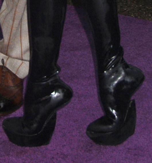 Slik ser de altså ut, skoene til Victoria Beckham.  Foto: All Over Press