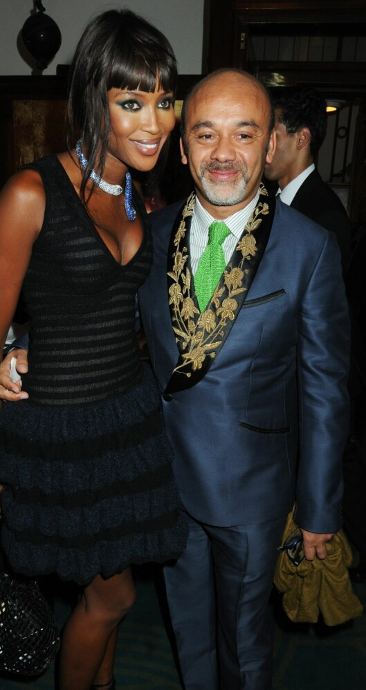 Christian Louboutin sammen med supermodell Naomi Campbell.  Foto: All Over Press