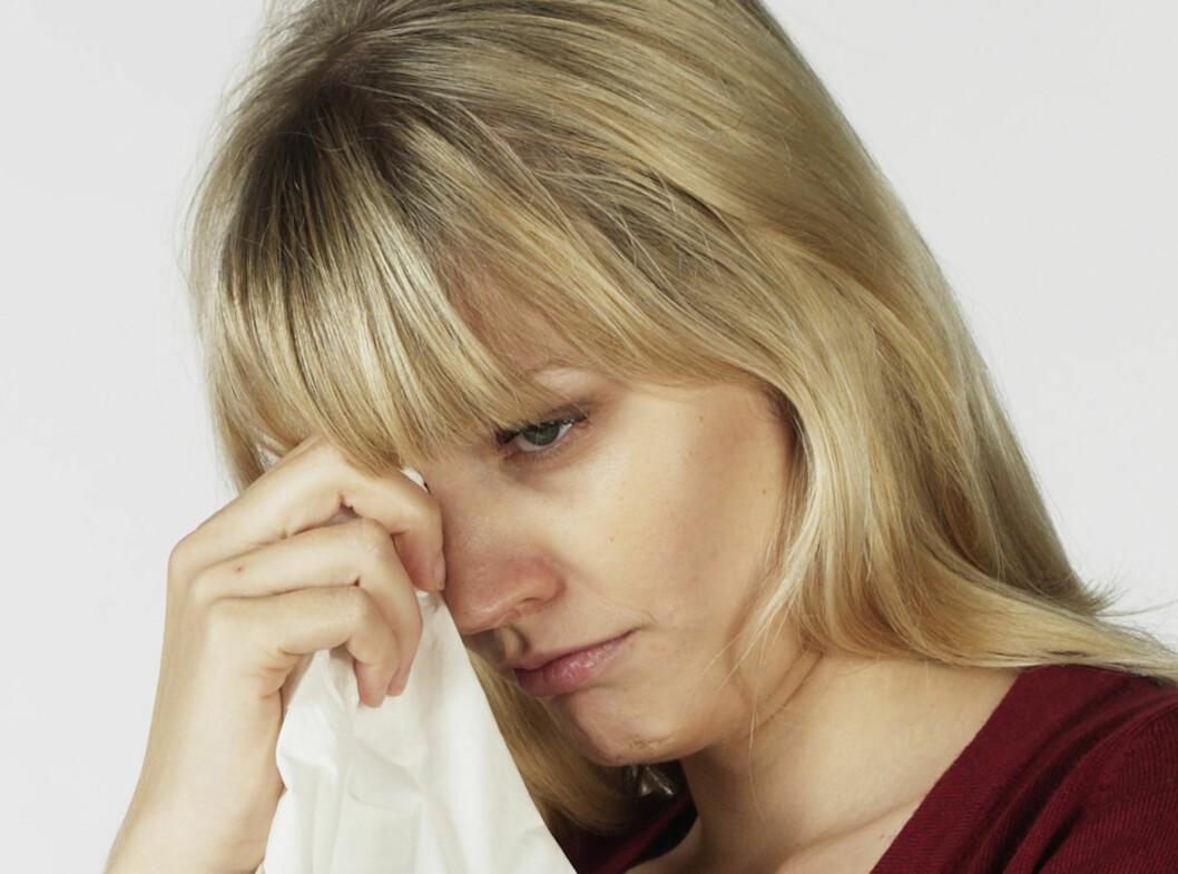 <strong>TÅRER:</strong> Kvinner fra 19 år og oppover gråter mest på grunn av triste filmer, ifølge en ny undersøkelse. Foto: Colourbox.com
