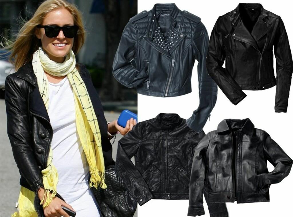 ca032ac8 TOPPER ETHVERT ANTREKK: MTV-stjernen Kristen Cavallari styler skinnjakken  sin med svarte RayBan-