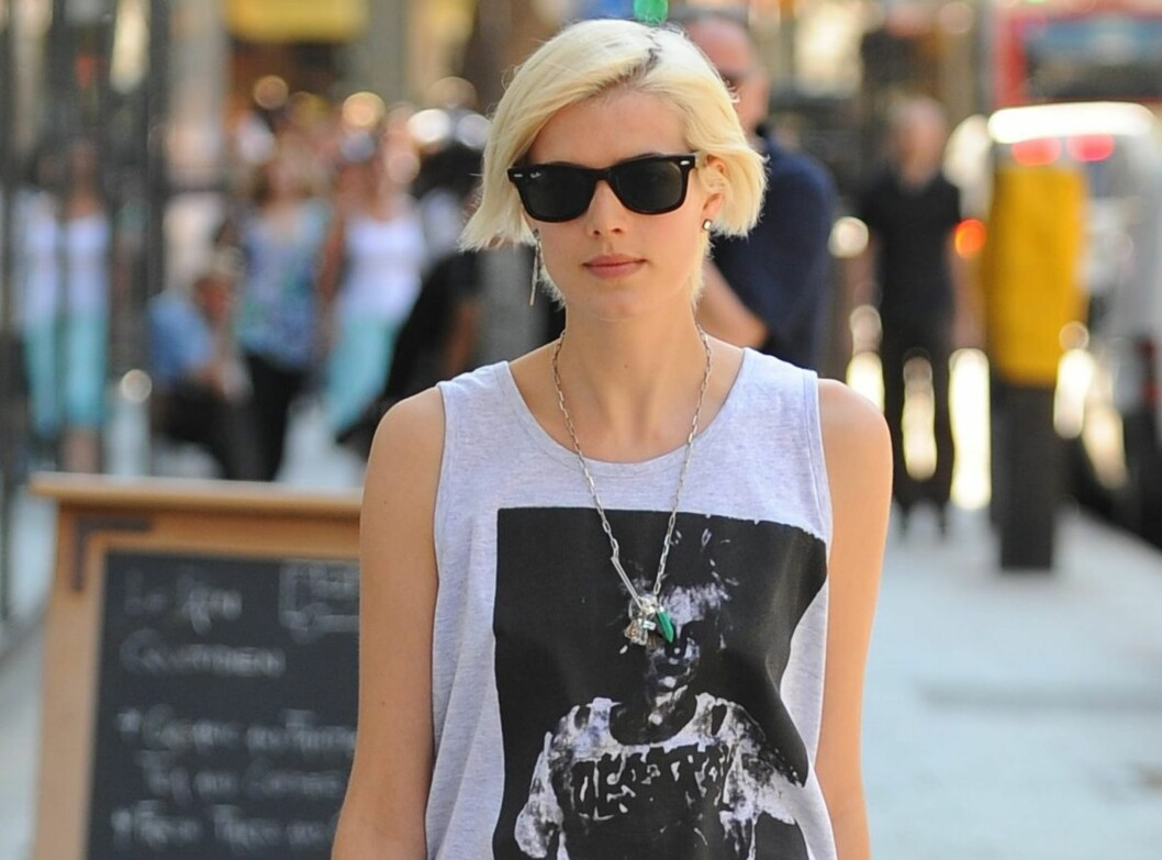 Modell Agyness Deyn er ofte å se på gata i London.  Foto: All Over Press