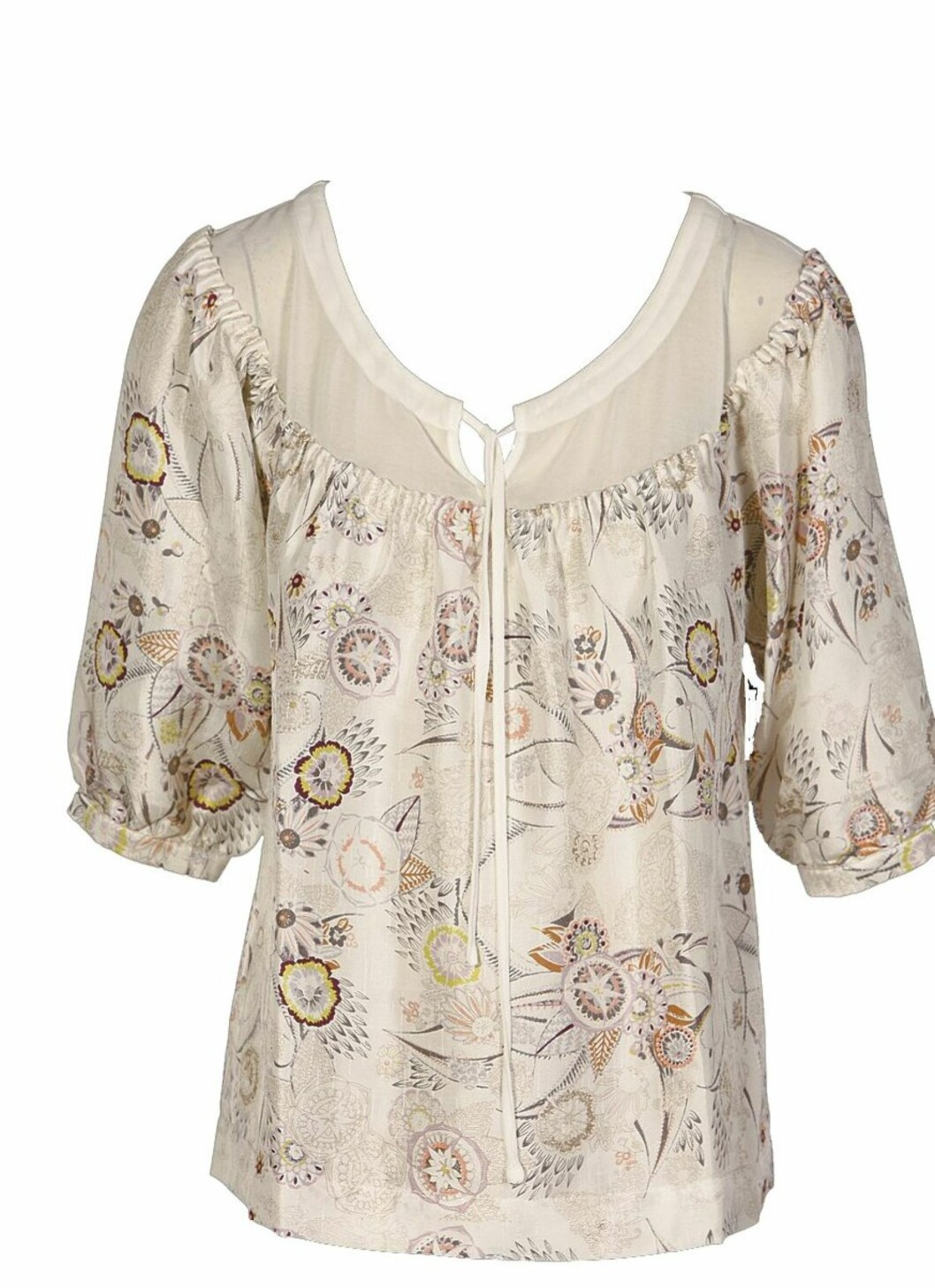 I mønstret silke (kr 800, InWear).