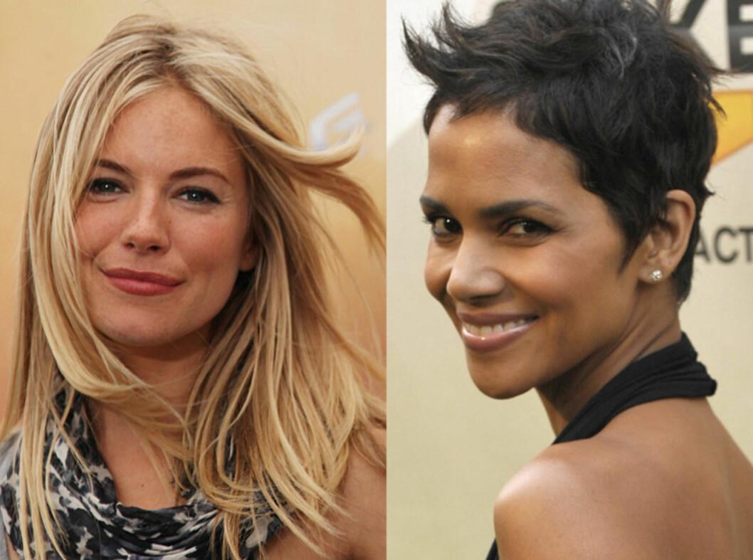 Sienna Miller sverger til lange lokker, mens Halle Berry har en kort og trendy frisyre. Hvilken type er mest deg?