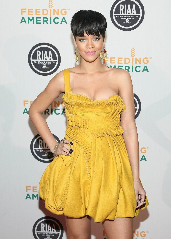 Sangeren Rihanna ser alltid like fantastisk ut.  Foto: All Over Press