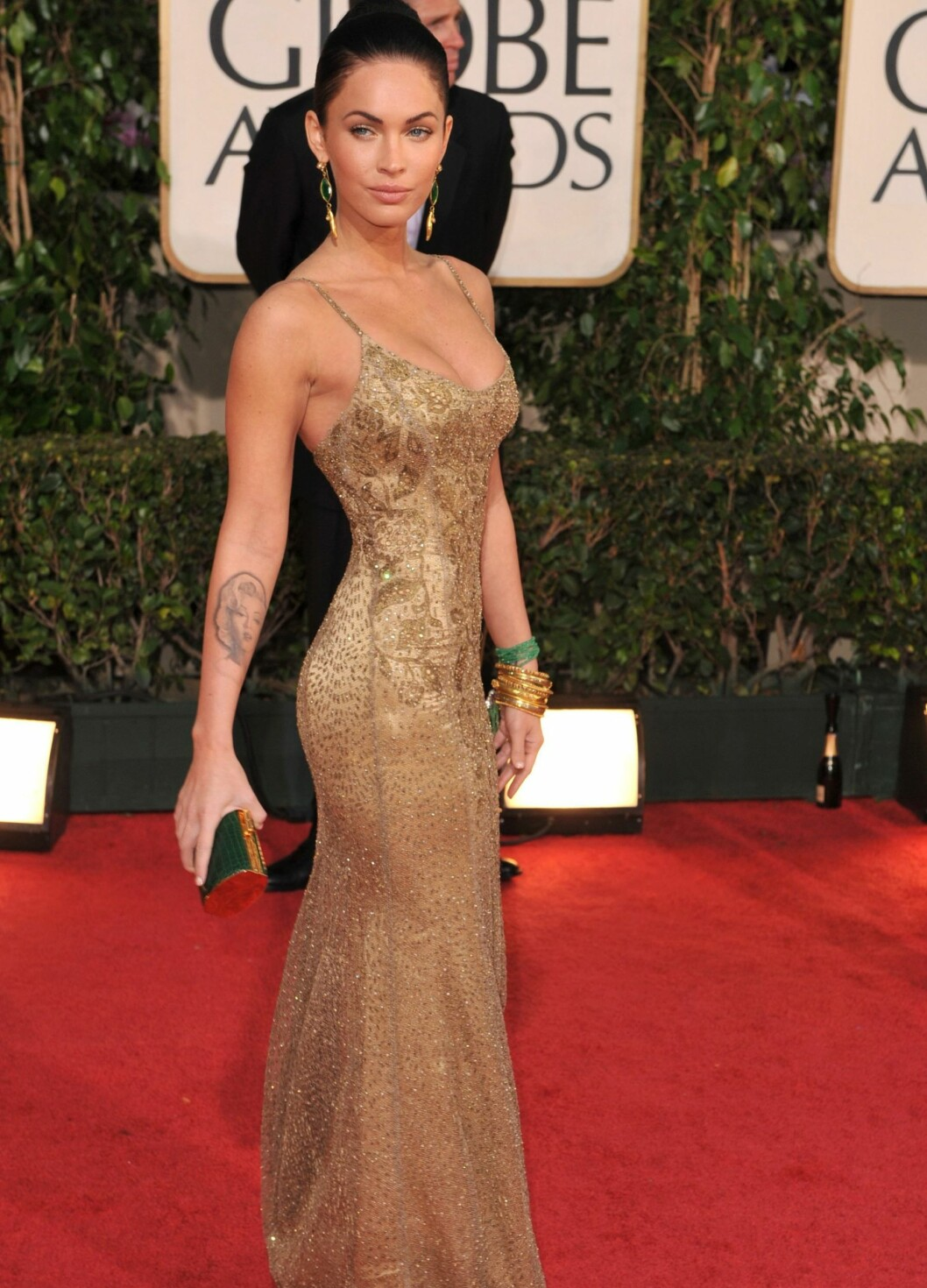 Skuespiller Megan Fox, her fra Golden Globe Awards i år.  Foto: All Over Press
