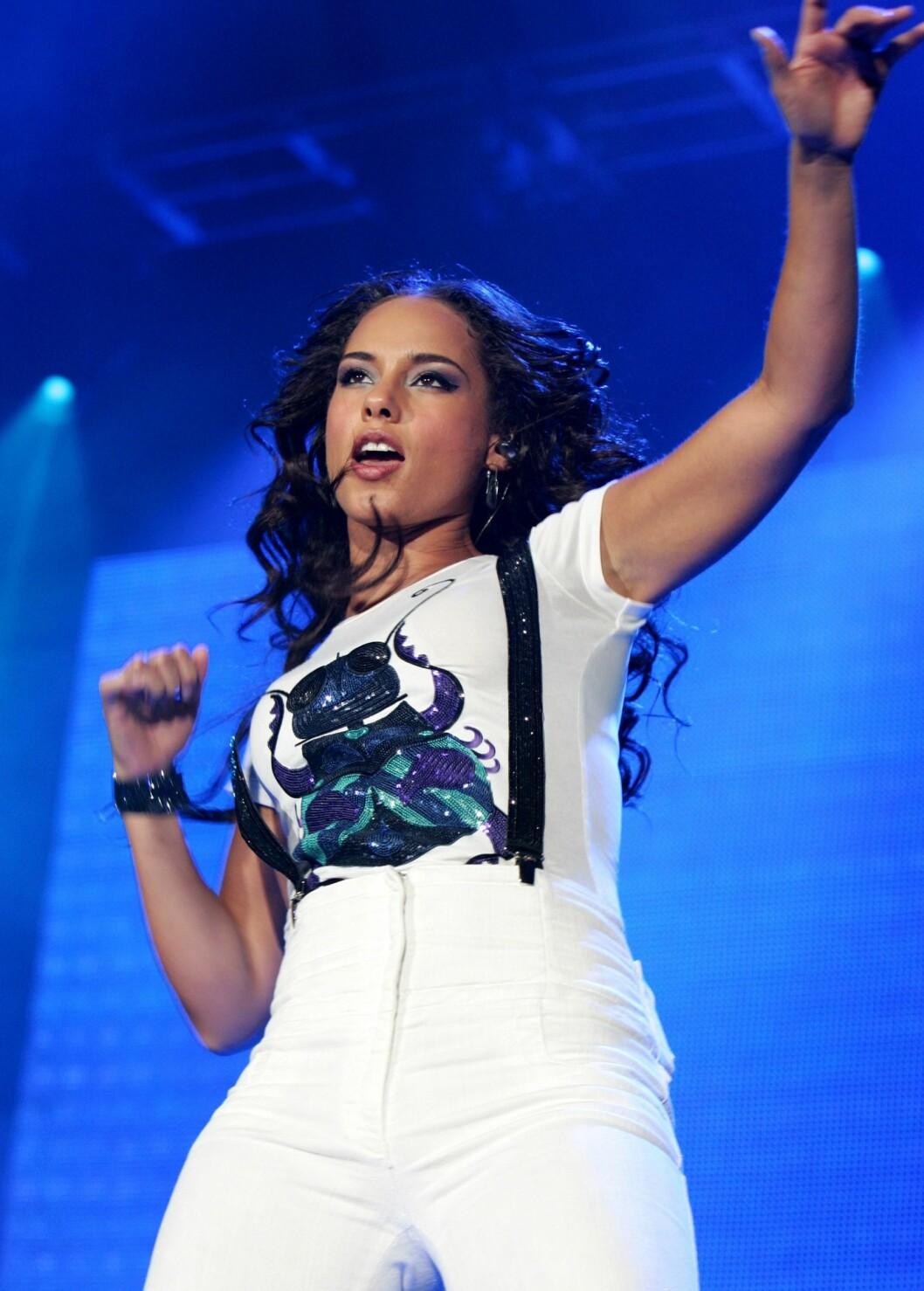 Energiske Alicia Keys gir alt på scenen.  Foto: All Over Press