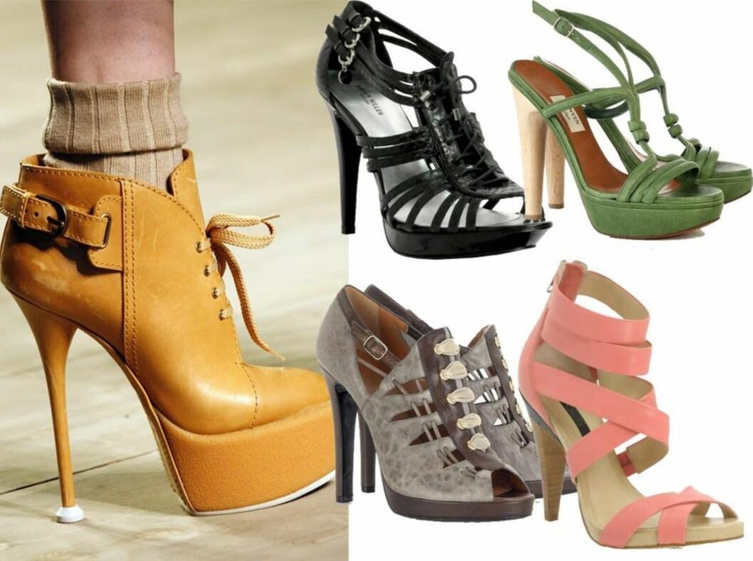 <strong>VILLIG TIL Å FORSTUE FOTEN FOR DISSE?:</strong> Kenzo er èn av flere designere som sverger til skyhøye hæler denne sommeren. Se informasjon om de andre skoene lenger ned i saken.
