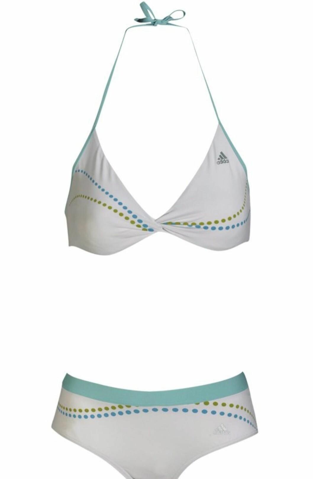 SPORTY: I aqua-farger (kr 400, Adidas/Ellos.no).