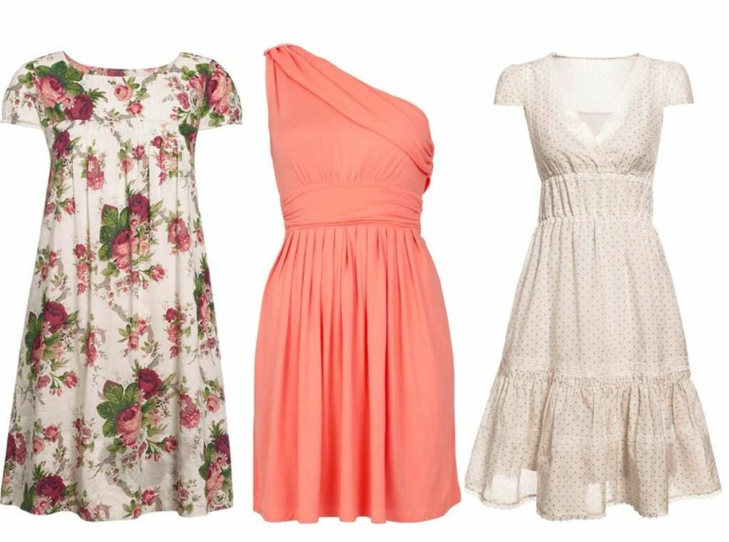 9d1d87b9 Blomsterpike, assymetrisk eller romantisk? Finn en kjole du liker på bildene  lenger ned i