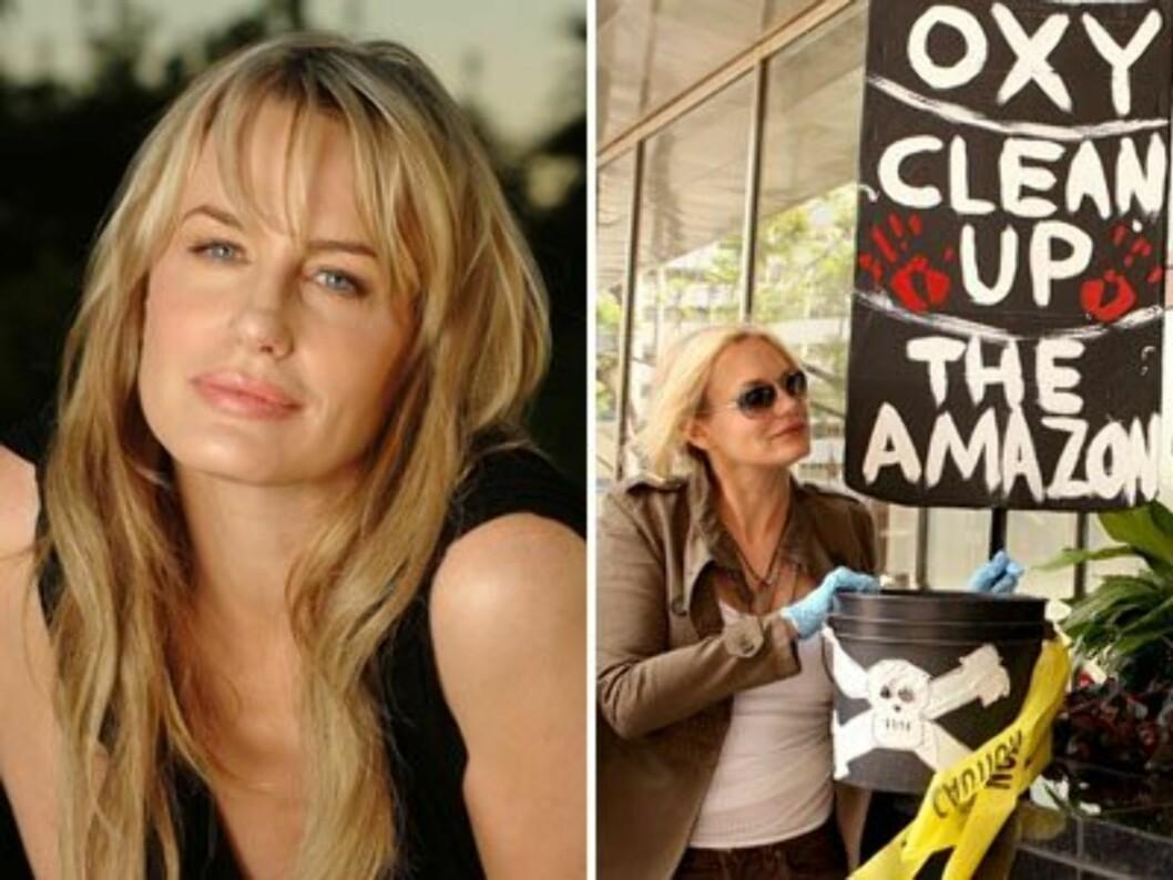 Daryl Hannah er en av de genuint engasjerte miljøaktivistene i Hollywood.
