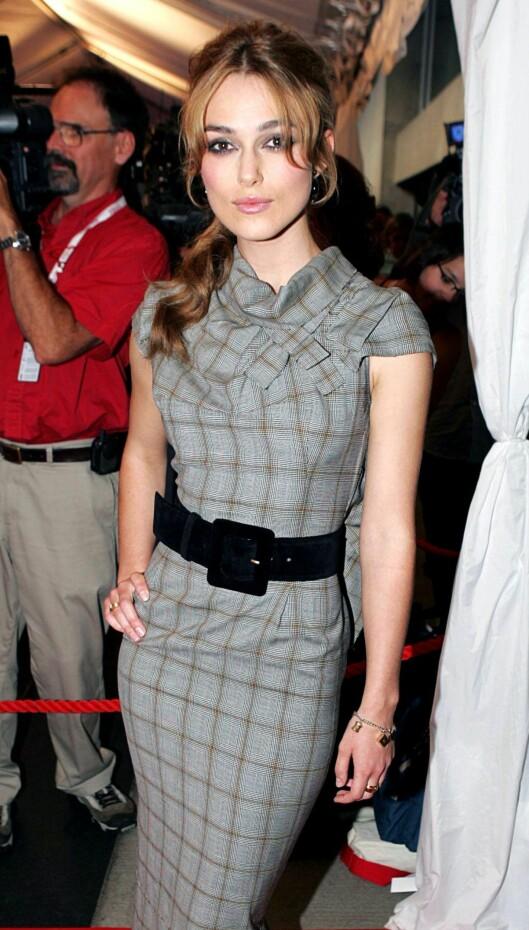 BELTET LIV: Sylslanke Keira Knightley jukser seg til kurver. Foto: All Over Press