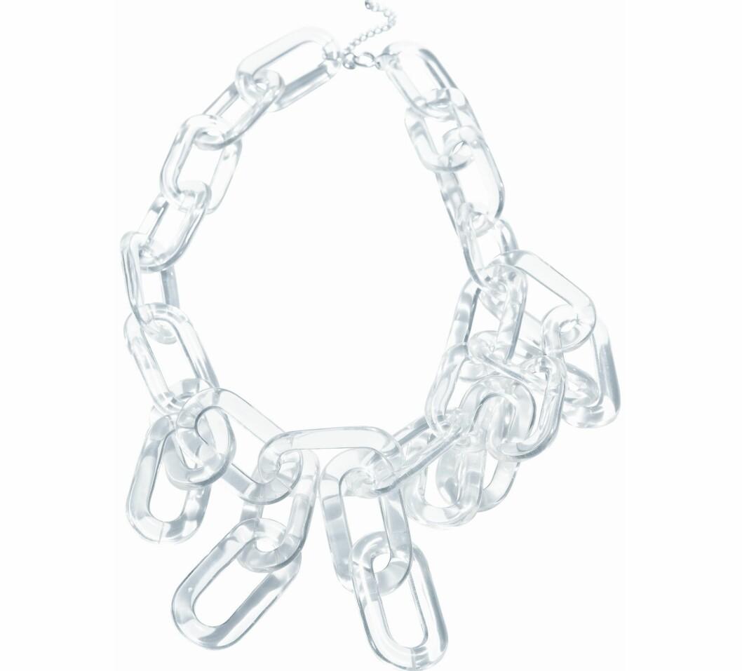 GLASSKLART: Kult lenkearmbånd i plastikk (kr 80, H&M).