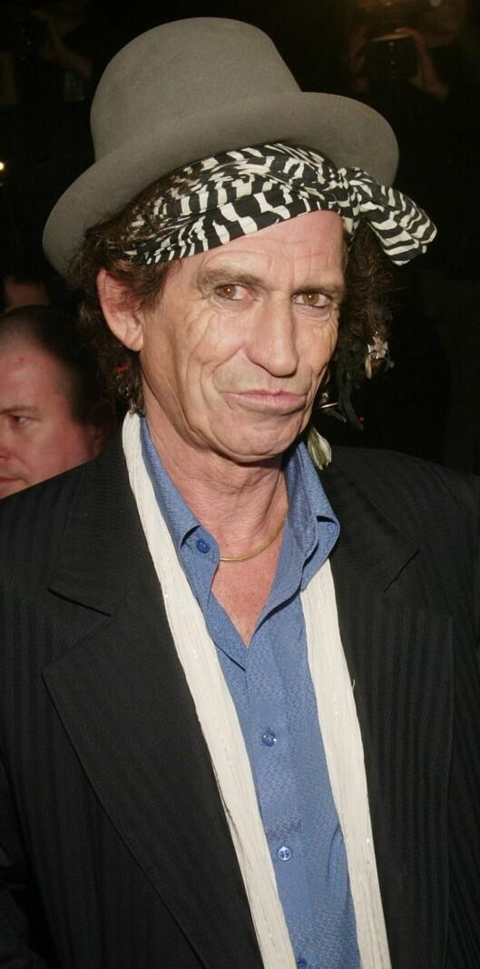 Aldri en dag uten et eller annet skjerf finurlig dandert for Rolling Stones-gitaristen Keith Richards. Foto: All Over Press