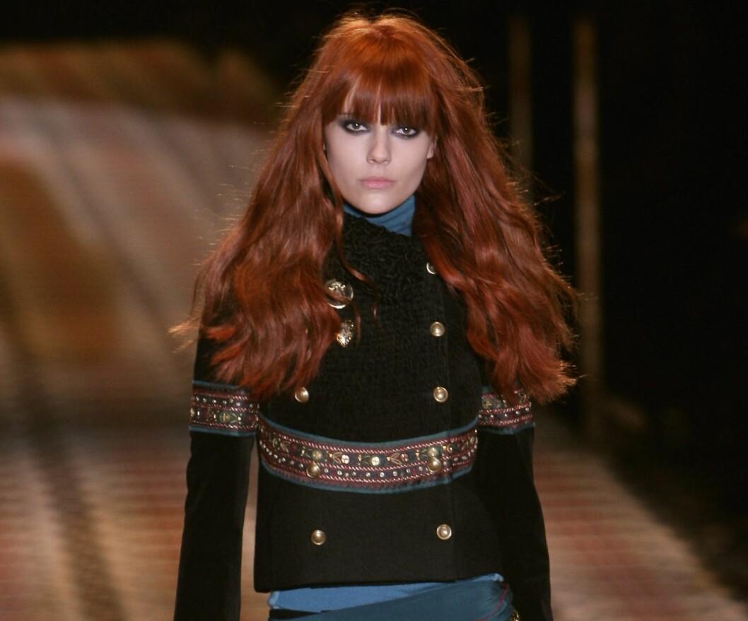 MILITÆRJAKKER: Korte, pyntet og inspirert av Russland. Gucci står for høstens store jakketrend. Foto: All Over PressAll Over Press