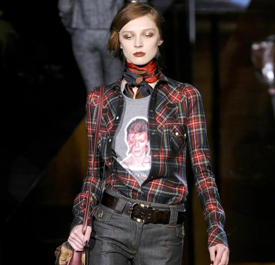 RUTETE SKJORTE: Nå er det bare å kjøre på med ruter i  rockabillystil. Gå for mønsteret på skjorter, som denne fra Dolce & Gabbana, kjoler, skjørt, strømpebukser, skjerf og jakker.   Foto: All Over PressAll Over Press