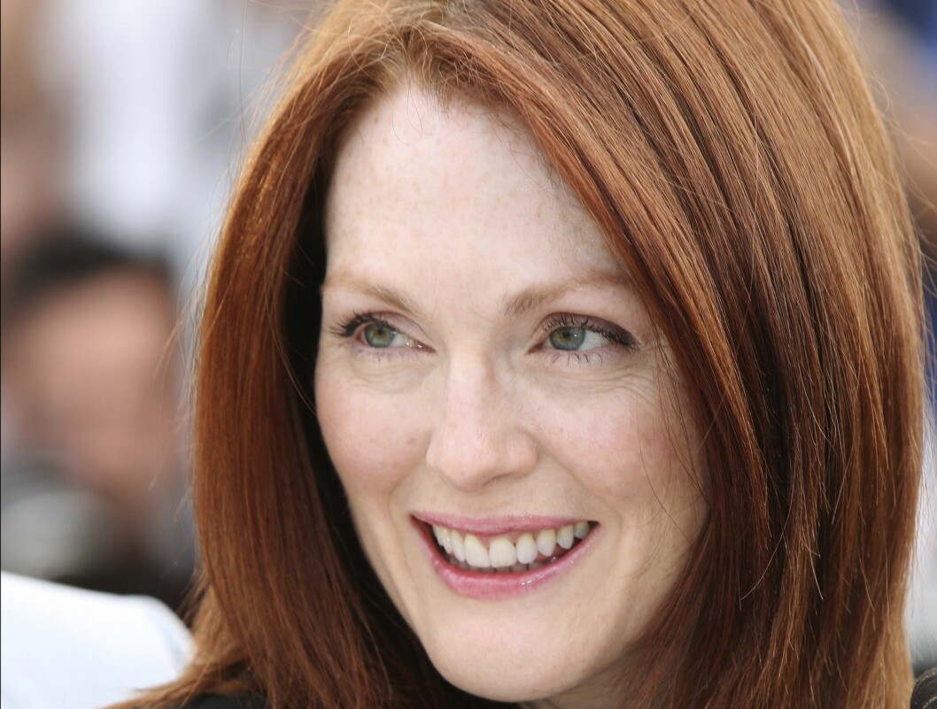 Skuespiller Julianne Moore er kjent for sine vakre fregner. Foto: All Over Press
