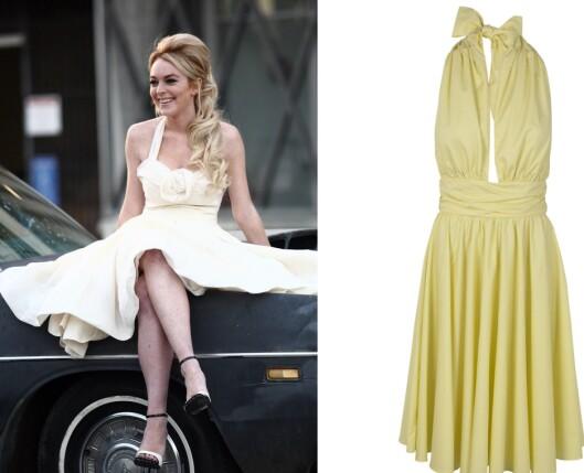 50-TALLET ER TILBAKE FOR FULLT: Gjrø som skuespiller Lindsay Lohan og gå for en deilig kjole selv Marilyn Monroe ville elsket. Sving deg til rockabillymusikk og på med eyelineren! Til høyre en kremhvit variant (kr 2200, French Connection).