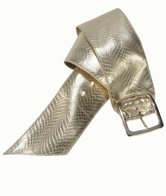 Glamorøst i gull (kr 100, Ellos).