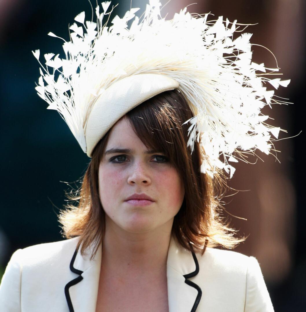 Prinsesse Eugenie bruste med hattefjærene på det årlige arrangementet.  Foto: All Over Press