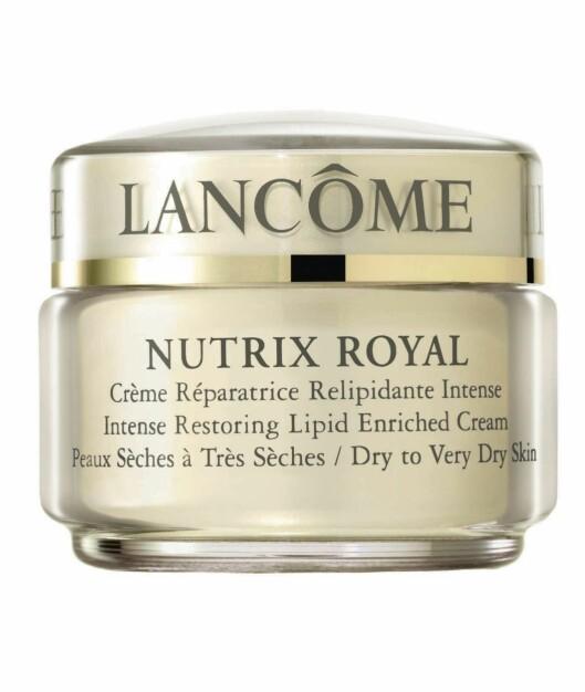 Nutrix Royal fra Lancôme passer til ekstra tørr hud (kr 465/50 ml). Foto: AOP, produsentene