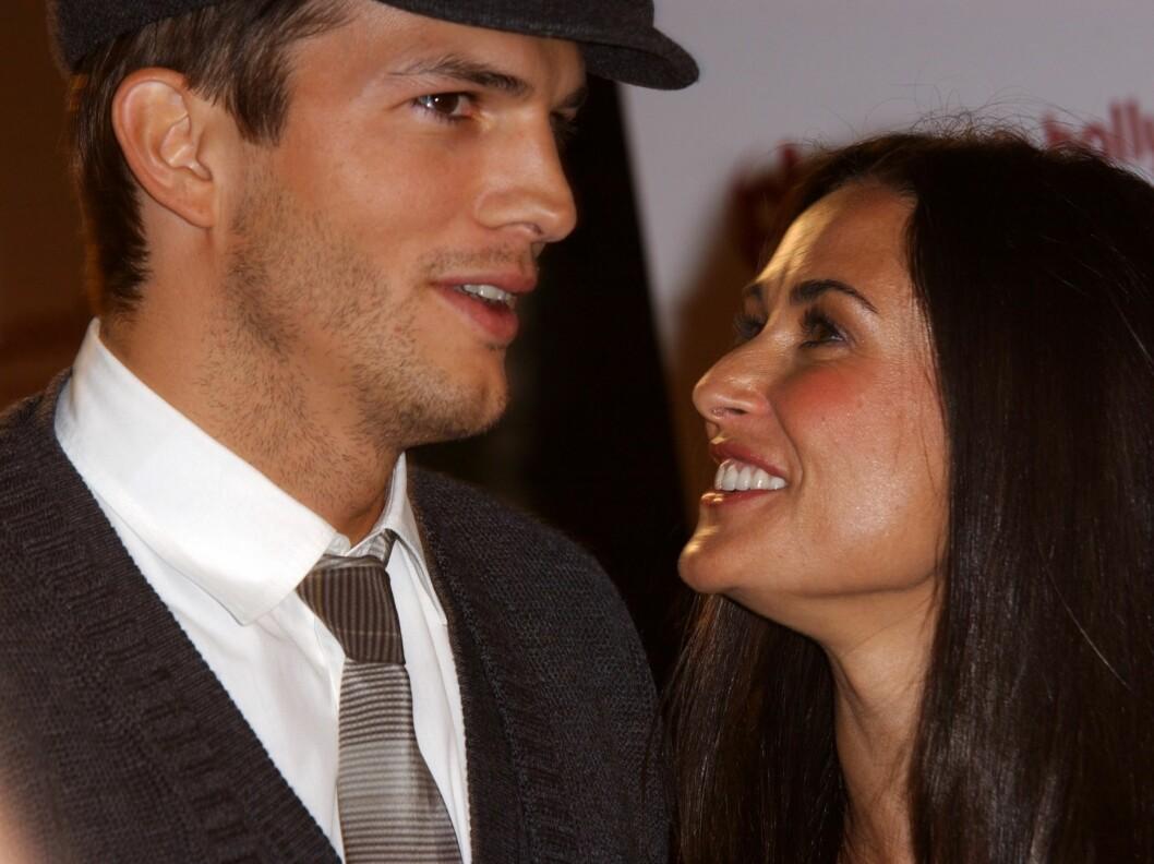 Demi Moore sjarmerte sin mye yngre ektemann Ashton Kutcher i senk ved å være seg selv. Foto: All Over Press