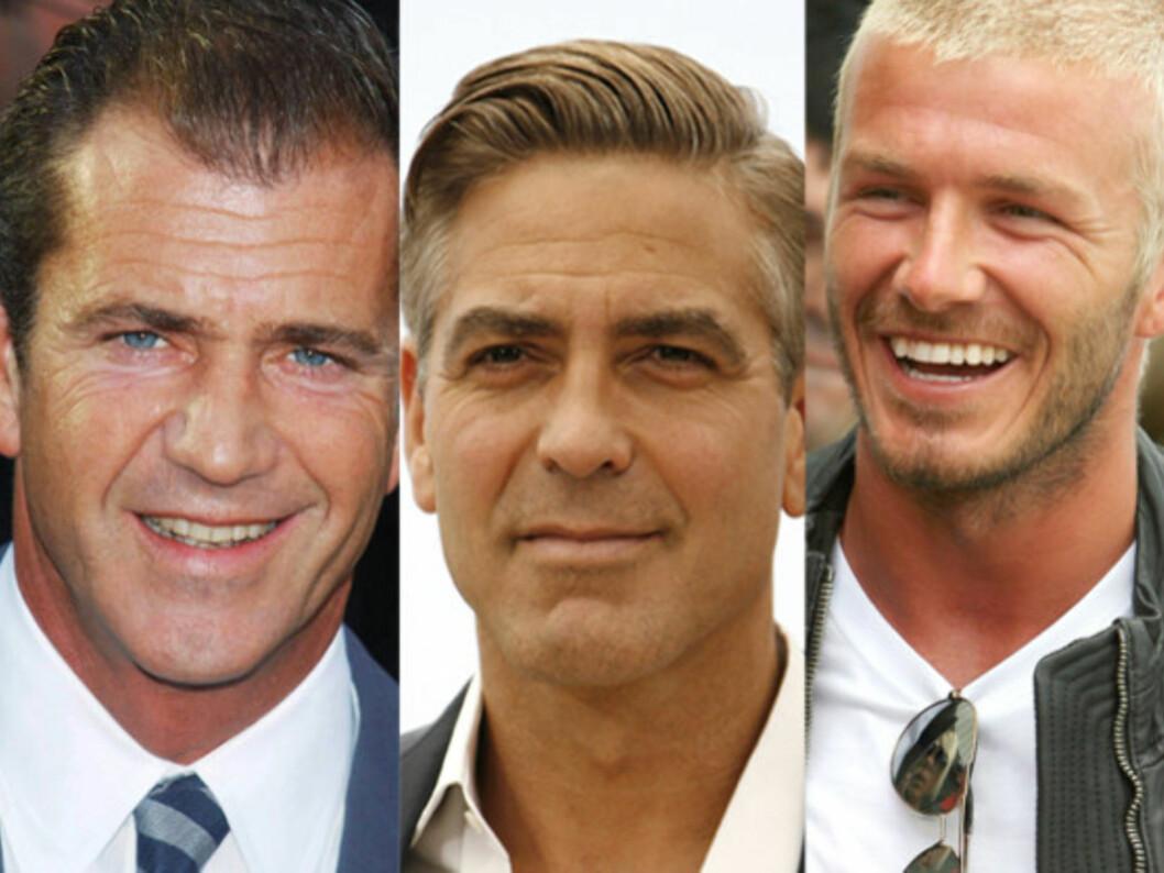 Mel Gibson, George Clooney eller David Beckham. Hvem er din perfekte mannetype?