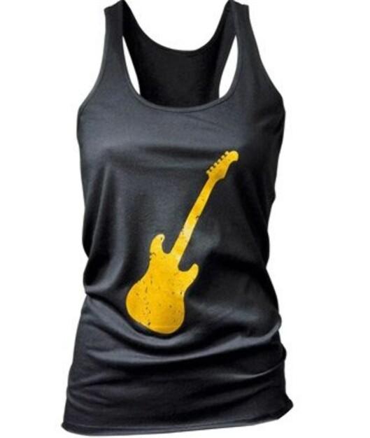 Singlet med gul gitar (nedsatt fra 130 til 70 kroner, La Redoute).