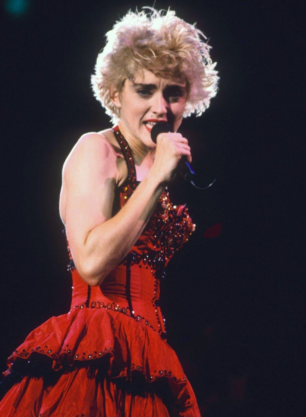Madonna under en konsert i London i 1987.