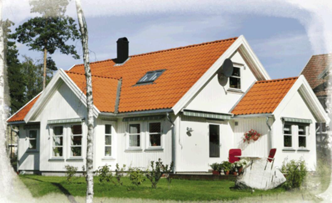 Huset «Nesgård» fra Mesterhus er merket med Svanemerke.