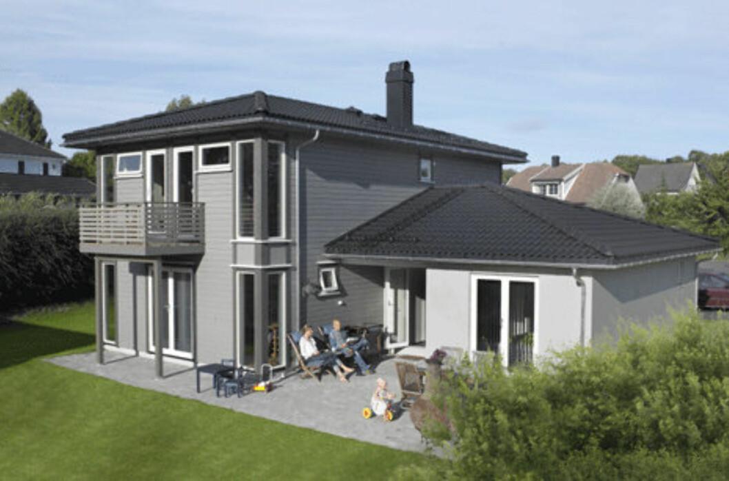 Huset «Maud» fra Mesterhus er merket med Svanemerke.