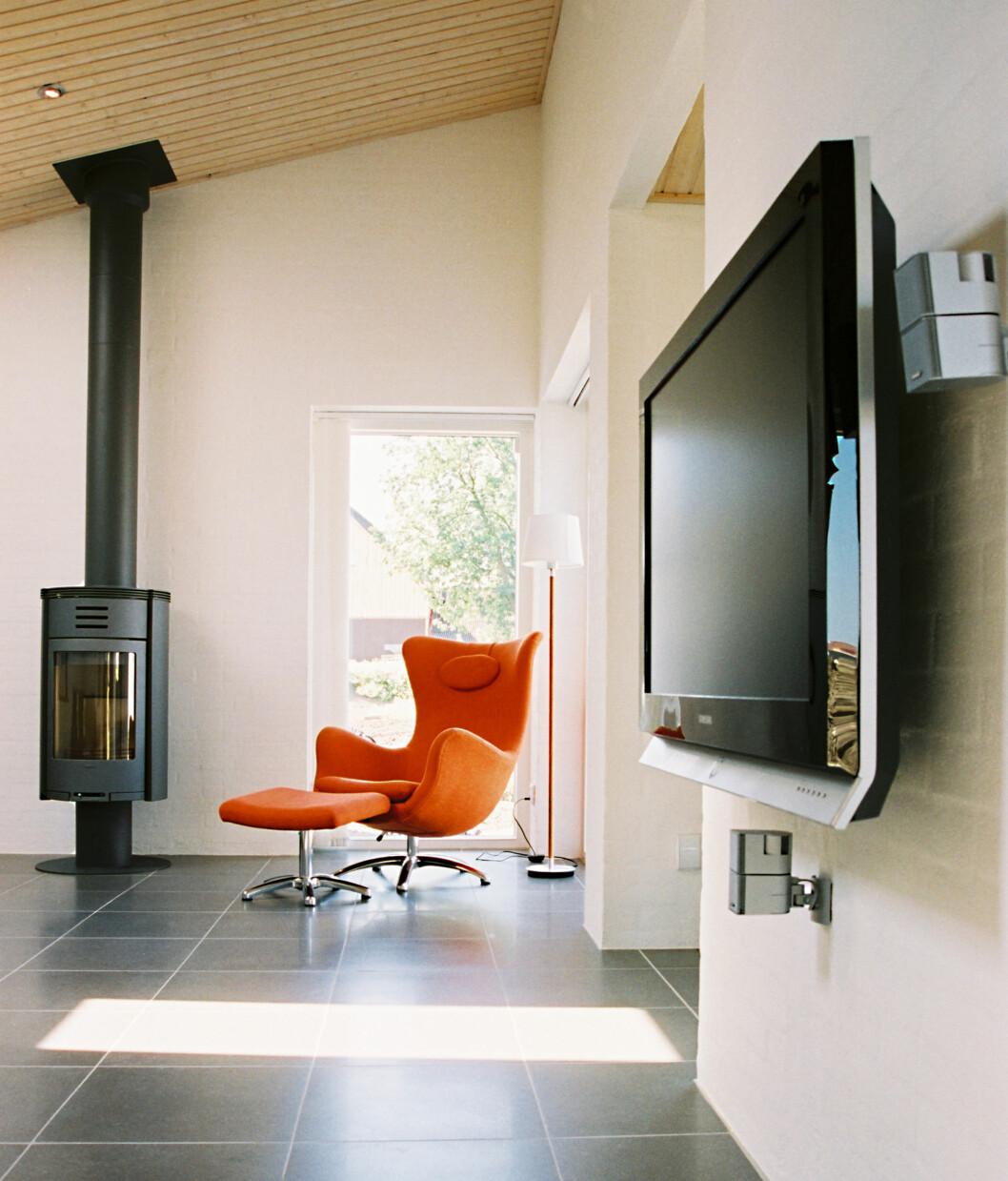 Her ser du deler av stuen i huset «Uniqhus» fra Skanska.