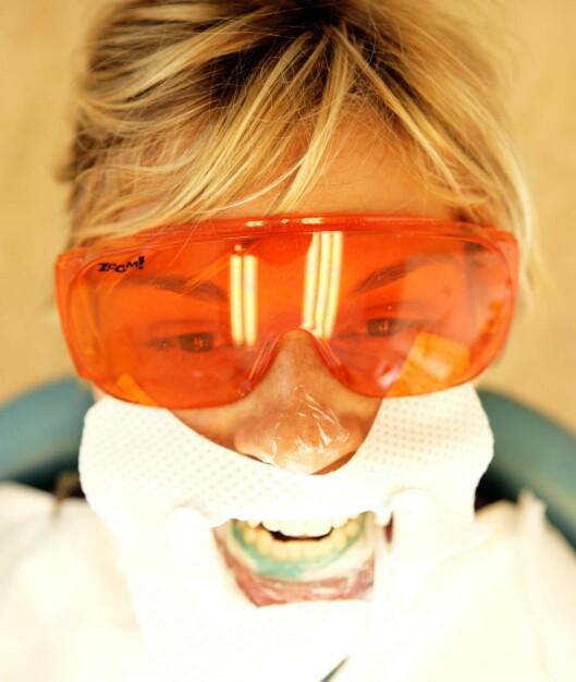 Nå er hele ansiktet beskyttet mot UV-strålene fra Zoom-lampen.