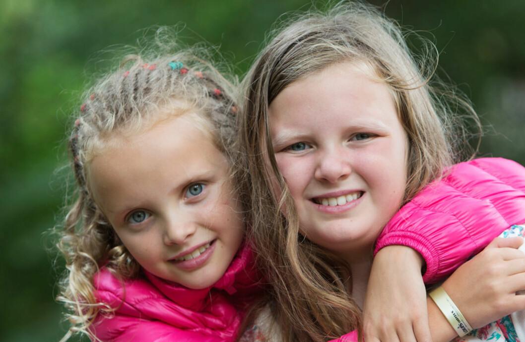 OVERLEVERE: Malin, Inger og Vidars yngste datter, ble født som prematurbarn, og eldstemann Julie fikk leukemi 3,5 år gammel. Jentene har bevist i ung alder hvor sterke de er.