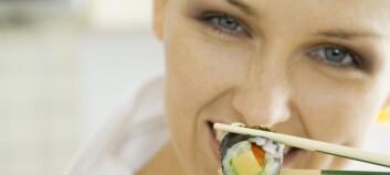 Kan du få kviser av sushi?