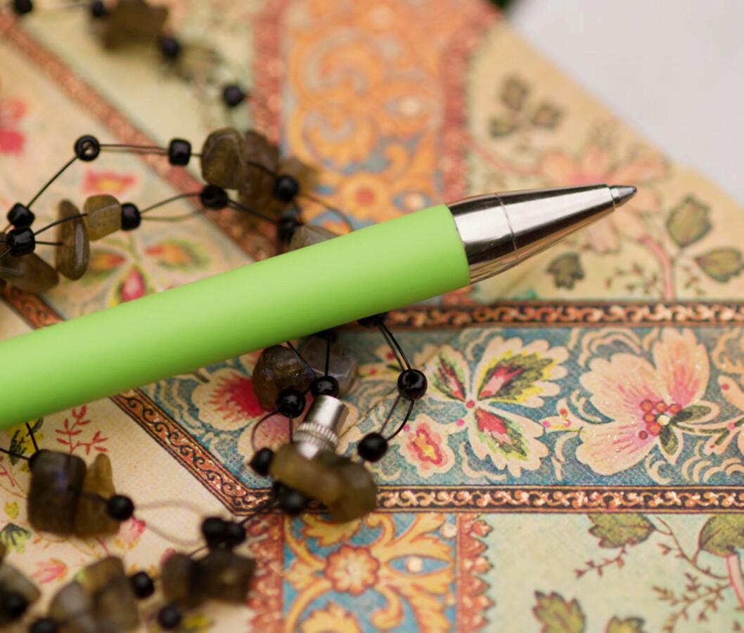 NOTATBOK: Anne-Helene har brukt mye tid på skriving siden hun ble syk. Hun noterer gjerne stikkord gjennom dagen.