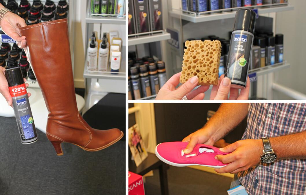 TA VARE PÅ SKOENE DINE: Hvis du vasker, impregnerer og oppbevarer skoene dine riktig, er sannsynligheten større for at de også kan brukes neste år.  Foto: Tone Ruud Engen