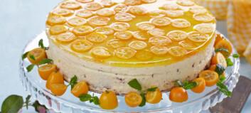 Kake med appelsinmousse