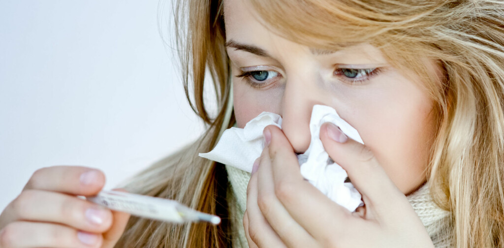 PÅ VEI: Influensabølgen er snart over oss. Se hvordan du fort blir frisk igjen! Foto: Colourbox