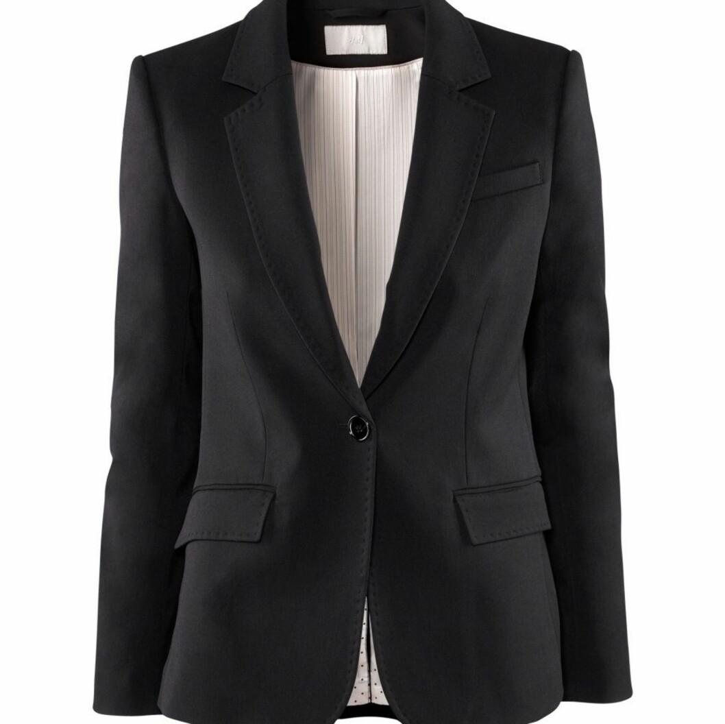 Klassisk blazer (kr 400, H&M). Foto: Produsenten