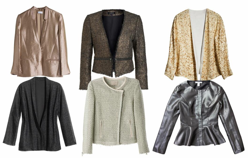 DE FINESTE JAKKENE: En lekker jakke kan gjøre hele antrekket ditt. Her er de beste styling- og kjøpetipsene! Foto: Produsentene