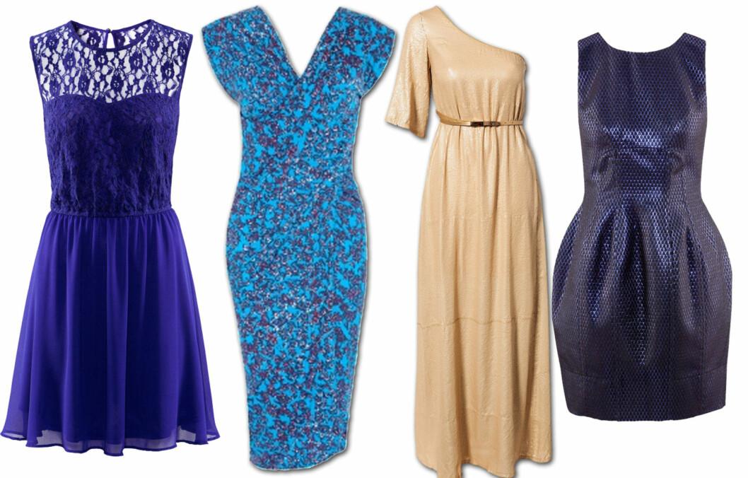 KJOLE SOM PASSER DEG: Velg heller en kjole som passer DIN figur foran å velge det som er trendy. Prisene finner du lenger nede i artikkelen. Foto: Produsentene