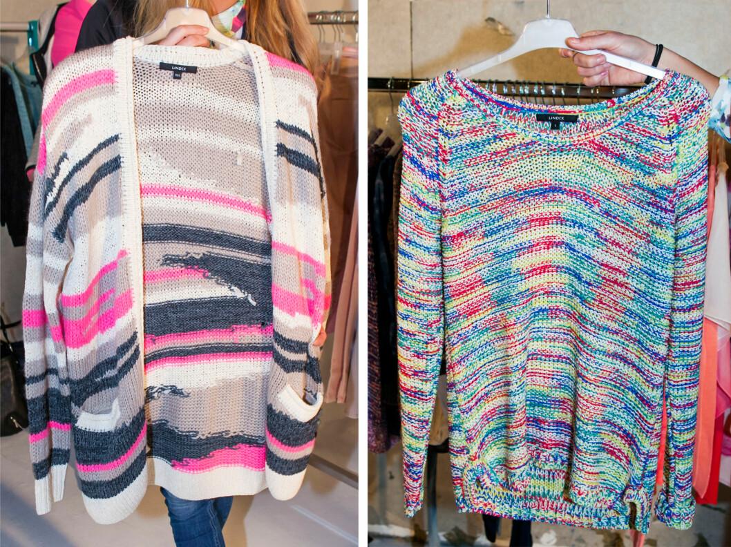 STRIKKGENSER: Neste års strikk skal gjerne være oversized og fargerik.  Foto: Per Ervland