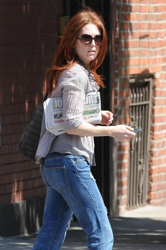 <strong>SPORTY LOOK:</strong> Skuespillerinnen går like gjerne i baggy jeans og en løs skjorte, som designerkjoler og hæler.  Foto: All Over Press