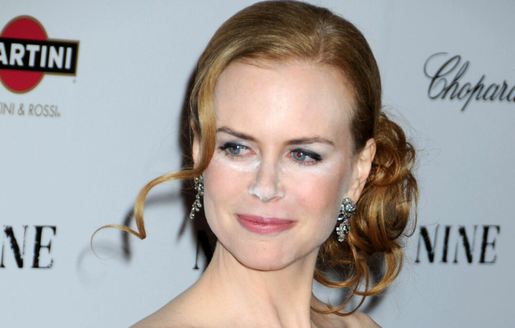 CONCEALEREN SKAL IKKE SYNES: I 2009 lærte Nicole Kidman på den harde måten - aldri bruk concealer som er lysreflekterende før du skal på den røde løper.  Foto: All Over Press