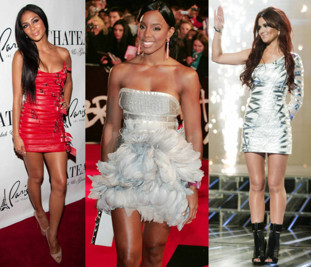 KLEDD I AADNEVIK: (F.v) Nicole Scherzinger, Kelly Rowland og Cheryl Cole. Foto: All Over Press