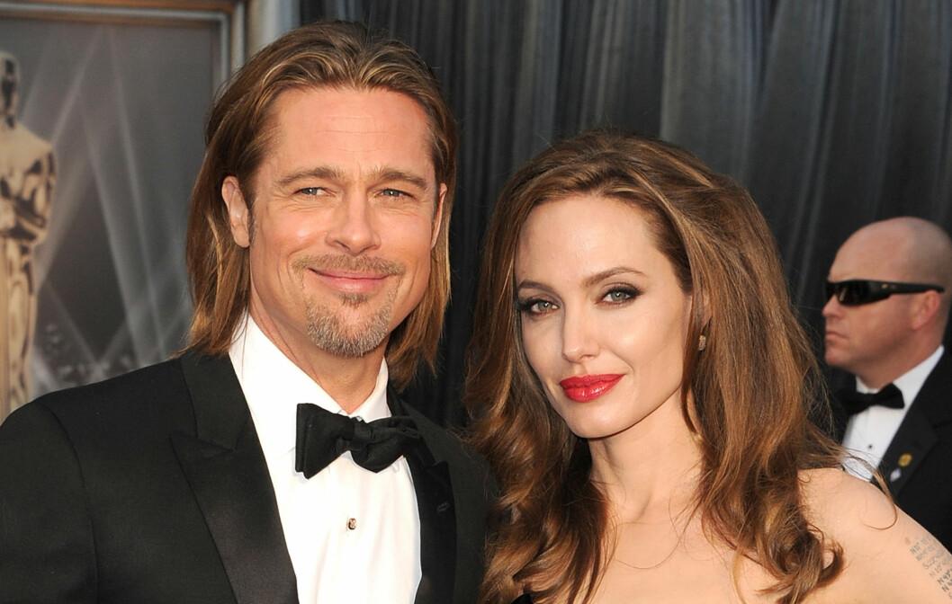 <strong>GIFTER SEG:</strong> Superparet Brad Pitt og Angelina Jolie annonserte sin forlovelse for seks måneder siden. Det er ventet at bryllupet vil holdes på godset deres i Sør-Frankrike en eller annen gang neste år.  Foto: All Over Press
